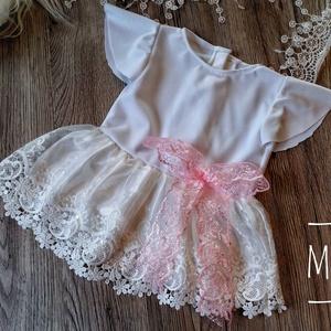 Alkalmi ,keresztelő kislány ruha 68-as méret , Ruha & Divat, Babaruha & Gyerekruha, Keresztelő ruha, Varrás, Meska