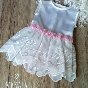 Alkalmi ,keresztelő kislány ruha 68 - as méret , Ruha & Divat, Babaruha & Gyerekruha, Keresztelő ruha, Varrás, Meska