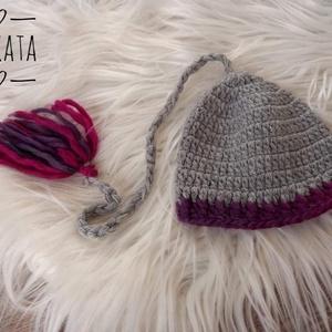 Kötött  újszülött / baba sapka 0-2 hó , Ruha & Divat, Babaruha & Gyerekruha, Babasapka, Kötés, Meska