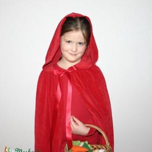 Piroska jelmez, Játék & Gyerek, Szerepjáték, Varrás, Klasszikus mesefigura jelmez formájában.\nA jelmez a kapucnis, szalagos köpenyt foglalja magában. A k..., Meska