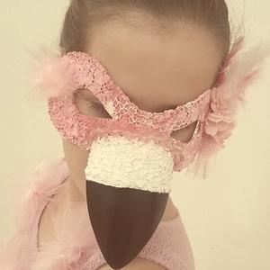 Flamingó- csak álarc!, Ruha & Divat, Jelmez & Álarc, Álarc, Varrás, Egy jelmez, ami biztosan nem jön szembe veled az ovis bálon, a sulis farsangon, vagy a farsangi part..., Meska