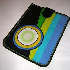 Tablet tok színes, Táska & Tok, Laptop & Tablettartó, Ebook & Tablet tok, Patchwork, foltvarrás, Újrahasznosított alapanyagból készült termékek, Meska