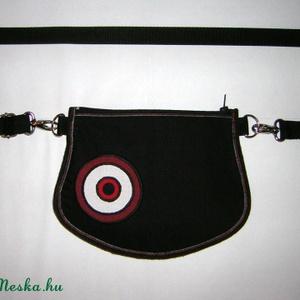 Övtáska  kis táska  2in1 fekete-piros-fehér - táska & tok - kézitáska & válltáska - vállon átvethető táska - Meska.hu
