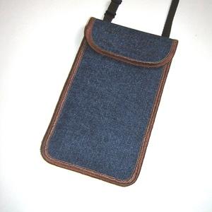 Állítható pántos mobil tok  Plus-os méretű telefonokhoz  farmer (mocsi) - Meska.hu