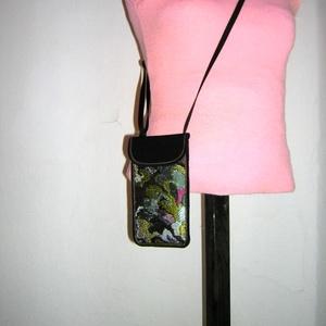 Telefontok állítható pántos mobil tartó Elegáns Nyakba akasztható kistáska - Meska.hu