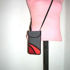 Telefon tok állítható pánttal  XL telefon tartó nyakba akasztható kistáska - Meska.hu