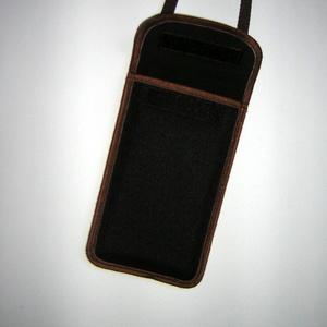 Vízhatlan mobiltok  Plus-os méretű telefonokhoz  állítható pántos kistáska (mocsi) - Meska.hu