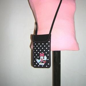 Cuki mobil tok állítható pánttal  XL telefon tartó Nyakba akasztható kistáska minnie egér - Meska.hu