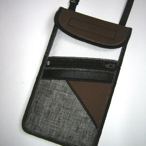 Telefontok elől cipzáros kis zsebbel  szürke-fehér-barna-fekete - Meska.hu