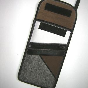 Mobiltok plus-os telefonokhoz elől cipzáros kis zsebbel  Barna Szürke Fehér Fekete - táska & tok - pénztárca & más tok - telefontok - Meska.hu