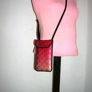 Mobiltok állítható pánttal  XL telefon tartó Nyakba akasztható színátmenetes kistáska - táska & tok - pénztárca & más tok - telefontok - Meska.hu