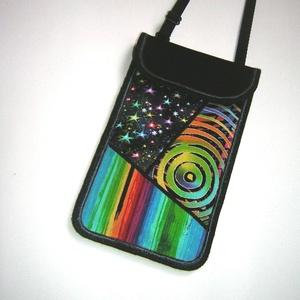 Mobiltok állítható pántos  XL telefon tartó Nyakba akasztható színes kistáska  - Meska.hu