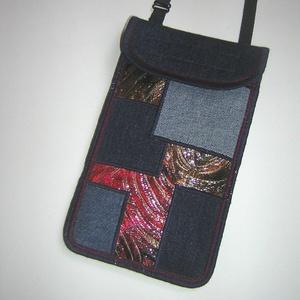 Mobiltok állítható pántos  XL telefon tartó Nyakba akasztható kistáska  eklektikus összeállítású tok  - Meska.hu