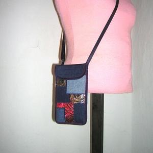 Mobiltok állítható pántos  XL telefon tartó Nyakba akasztható kistáska  eklektikus összeállítású tok  - táska & tok - pénztárca & más tok - telefontok - Meska.hu