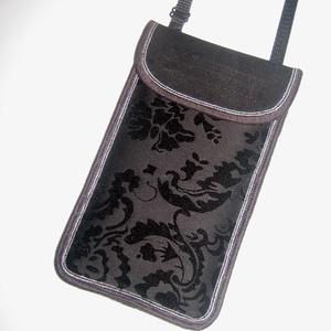 Állítható pántos mobil tok  Plus-os méretű telefonokhoz  elegáns Fekete barokk mintás kistáska, Táska & Tok, Pénztárca & Más tok, Telefontok, Varrás, Mindenmás, Meska