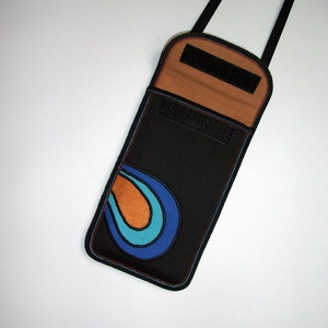 Nyakbaakasztató mobil tok  Plus-os méretű telefonokhoz  XL-es tok állítható pánttal - táska & tok - kézitáska & válltáska - vállon átvethető táska - Meska.hu