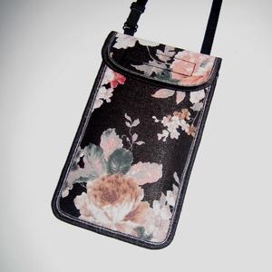 Mobiltok állítható pánttal XL telefon tartó virág mintás, Táska & Tok, Pénztárca & Más tok, Telefontok, Varrás, Mindenmás, Meska