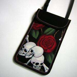 Mobiltok állítható pántos  XL telefon tartó Nyakba akasztható kistáska  - Meska.hu