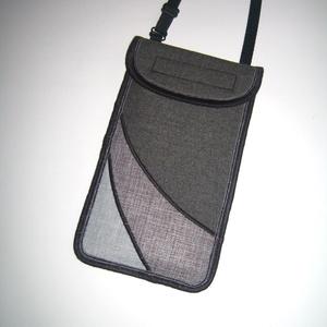 Nyakbaakasztató mobil tok  Plus-os méretű telefonokhoz  XL-es tok állítható pánttal Szürke három árnyalata, Táska & Tok, Pénztárca & Más tok, Telefontok, Varrás, Meska