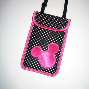 Cuki mobil tok állítható pánttal  XL telefon tartó Nyakba akasztható kistáska minnie egér, Táska, Divat & Szépség, Táska, Pénztárca, tok, tárca, Mobiltok, Varrás, Mindenmás, Egyedi,igényesen elkészített mobiltartó. Tökéletesen illeszkedik az iphone 6 plus, iPhone 7 plus, iP..., Meska