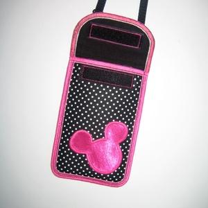 Cuki mobiltok állítható pánttal  XL telefon tartó Nyakba akasztható kistáska minnie egér - Meska.hu