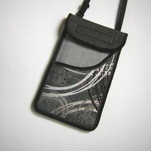 Mobiltok állítható pántos  XL telefon tartó Nyakba akasztható zsebes kistáska szürke-ezüst , Telefontok, Pénztárca & Más tok, Táska & Tok, Varrás, Mindenmás, Egyedi, igényesen elkészített mobiltartó. Tökéletesen illeszkedik az iphone 6 plus, iPhone 7 plus, i..., Meska