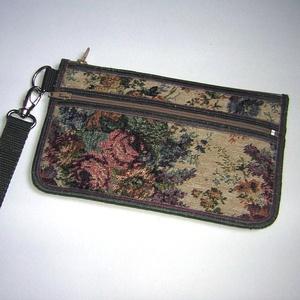 Csuklótáska Mobiltok  cipzáros zsebbel XL telefon tartó Gobeline mintás neszesszer pénztárca - Meska.hu
