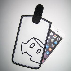 Absztrakt mickey mouse mobiltok Fehér-Fekete, Telefontok, Pénztárca & Más tok, Táska & Tok, Varrás, Mindenmás, Egyedi, igényesen elkészített mobiltartó. Tökéletesen illeszkedik az iPhone 6 plus, iPhone 7 plus, i..., Meska