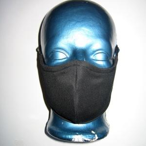 Unisex szájmaszk állítható gumival arcmaszk biciklis maszk Fekete, Egyéb, Táska, Divat & Szépség, Szépség(ápolás), Maszk, szájmaszk, Varrás, Újrahasznosított alapanyagból készült termékek, Igényesen elkészített, mosható, háromrétegű, mindkét felén hordható szájmaszk.  A gumija állítható, ..., Meska