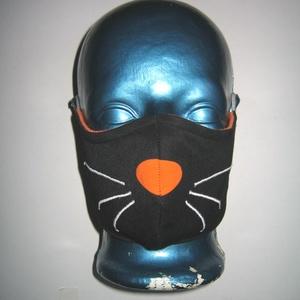 Minőségi Szájmaszk fülre akasztható arcmaszk biciklis maszk cica, Vicces, Maszk, Arcmaszk, Varrás, Igényesen elkészített, mosható, vasalható háromrétegű, mindkét felén hordható szájmaszk.  Fülre akas..., Meska