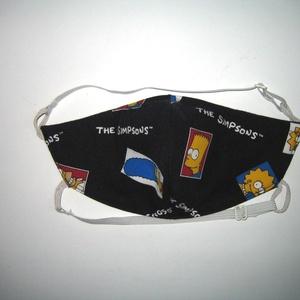 Simpsons egyedi - szájmaszk szabályozható gumis arcmaszk biciklis maszk  , Táska, Divat & Szépség, Szépség(ápolás), Maszk, szájmaszk, Egészségmegőrzés, Varrás, Újrahasznosított alapanyagból készült termékek, Igényesen elkészített, háromrétegű, mindkét felén hordható szájmaszk. Mosható, vasalható. A gumija á..., Meska
