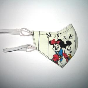 Minnie-Mickey Szájmaszk szabályozható gumival arcmaszk textil maszk   - Meska.hu