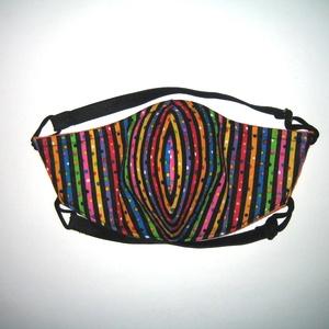 Szájmaszk szabályozható gumis arcmaszk biciklis maszk  , Maszk, Arcmaszk, Női, Varrás, Igényesen elkészített, mosható háromrétegű, mindkét felén hordható szájmaszk. A gumija állítható, sz..., Meska