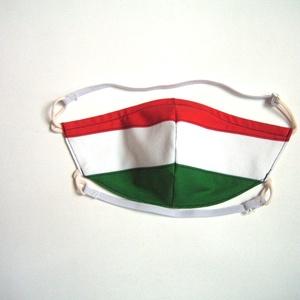Egyedi Szájmaszk szabályozható gumis arcmaszk nemzetiszínű textil maszk   - Meska.hu