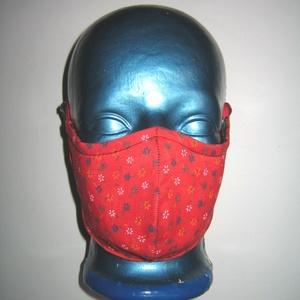 Virágos Szájmaszk textil maszk állítható gumival 2in1 arcmaszk, Női, Maszk, Arcmaszk, Varrás, Igényesen elkészített, mosható, vasalható, háromrétegű, mindkét felén hordható szájmaszk. Egyik olda..., Meska