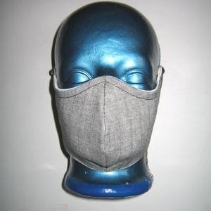 Elegáns női szájmaszk arc maszk szabályozható gumival, Táska, Divat & Szépség, Szépség(ápolás), Maszk, szájmaszk, NoWaste, Varrás, Egyedi, igényesen elkészített, mosható vasalható háromrétegű szájmaszk. Szürke vékony hajszálcsíkos ..., Meska
