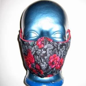 Egyedi Szájmaszk szemüvegeseknek orrmerevítős arcmaszk biciklis maszk , Egyéb, Táska, Divat & Szépség, Szépség(ápolás), Maszk, szájmaszk, Varrás, Igényesen elkészített, mosható, vasalható, mindkét felén hordható, háromrétegű szájmaszk. A felső ré..., Meska