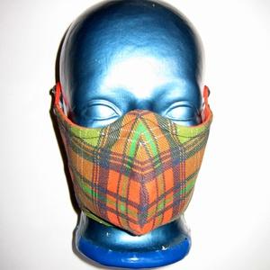 Egyedi kockás szájmaszk orrmerevítős arcmaszk 2in1 biciklis maszk  - Meska.hu