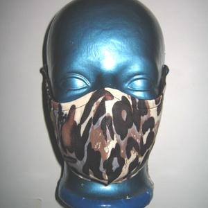 Egyedi szájmaszk szabályozható gumis ocelot mintás arcmaszk biciklis maszk  - Meska.hu