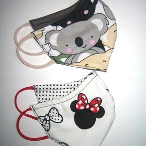 4in2 könnyű nyári szájmaszk szett arc maszk Minnie és Koala, Táska, Divat & Szépség, Szépség(ápolás), Maszk, szájmaszk, NoWaste, Varrás, Két darab, igényesen elkészített fülre akasztható mosható vasalható kétrétegű mindkét felén hordható..., Meska