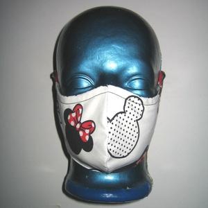 2in1 Minnie-mouse Szájmaszk arcmaszk biciklis maszk  , Női, Maszk, Arcmaszk, Varrás, Igényesen elkészített, mosható, vasalható kétrétegű, mindkét felén hordható szájmaszk. Fülre akaszth..., Meska