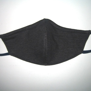 Pöttyös szájmaszk orrmerevítős arcmaszk 2in1 biciklis maszk sötétkék pasztell pöttyökkel - Meska.hu