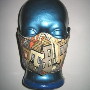Szájmaszk drótos fülre akasztható arcmaszk biciklis maszk Párizs/házak/cicák - Meska.hu