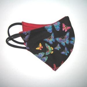 Pillangós maszk drótos fülre akasztható arcmaszk egyedi maszk lepkék, Maszk, Arcmaszk, Női, Varrás, Meska
