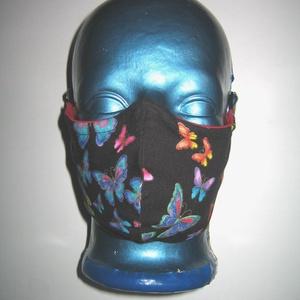 Maszk drótos fülre akasztható arcmaszk egyedi maszk lepkés  - maszk, arcmaszk - női - Meska.hu