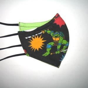 Gyerek szájmaszk tini nindzsa teknőcök textil maszk - Meska.hu