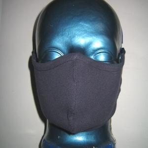 Orrmerevítős Szájmaszk fülre akasztható arcmaszk biciklis maszk sötétkék színes pöttyökkel - Meska.hu