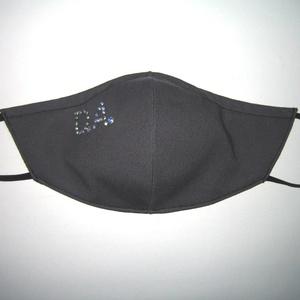 Monogrammos Egyedi Szájmaszk szemüvegeseknek orrmerevítős arcmaszk textil maszk színjátszós strasszal - Meska.hu