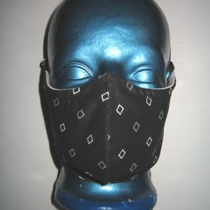 Egyedi szájmaszk orrmerevítős arcmaszk fülre akasztható védő maszk , Maszk, Arcmaszk, Női, Varrás, Egyedi, igényesen elkészített, mosható, vasalható, mindkét felén hordható, háromrétegű szájmaszk. A ..., Meska