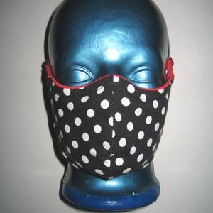 2 db orrmerevítős vastag szájmaszk 4in2 arcmaszk fülre akasztható textil maszk  Eszterházy kockás-Pöttyös - Meska.hu